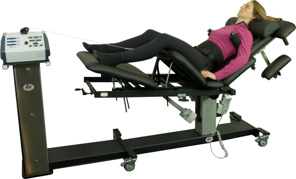 Woman Getting Spinal Decompression Therapy